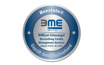 """Beestate® mit dem BMEnet Gütesiegel """"Beschaffung Facility Management Services"""" ausgezeichnet"""